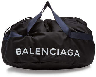 Balenciaga Printed Wheel Bag S with Leather