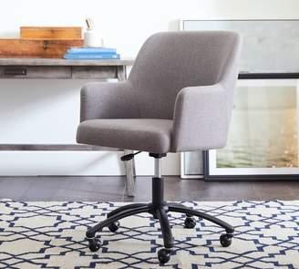 Pottery Barn Dublin Upholstered Swivel Desk Chair