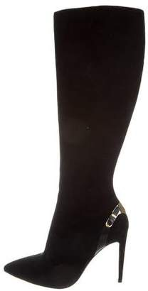 Ralph Lauren Purple Label Suede Knee-High Boots