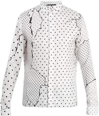 Haider Ackermann Abstract polka-dot silk shirt