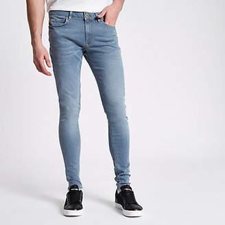 River Island Mens Blue Ollie super skinny spray on jeans