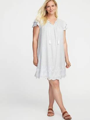 Old Navy Plus-Size Linen-Blend Cutwork Swing Dress