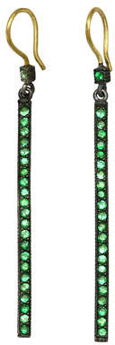 Yossi Harari Tsavorite Stick Dangle Earrings
