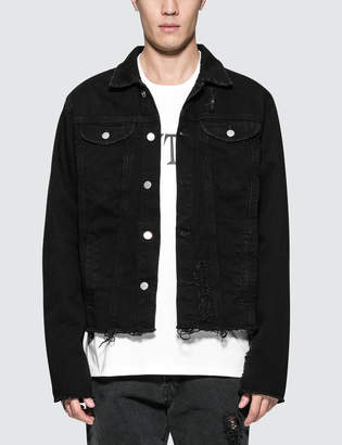 Misbhv Thunderdome Ripped Denim Jacket