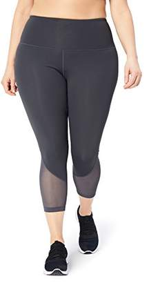 "DAY Birger et Mikkelsen Core 10 Women's Plus Size Race High Waist Run Mesh 7/8 Crop Legging - 24"""