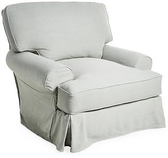 Comfy Slipcovered Club Chair - Seafoam Linen - Rachel Ashwell