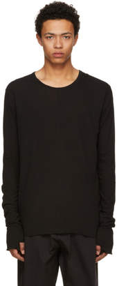 Nude:mm Black Long Sleeve Boiled Jersey T-Shirt