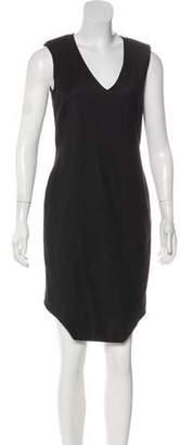 Helmut Lang Virgin Wool-Blend Sleeveless Dress