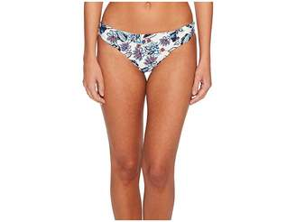 Ella Moss Folktale Floral Shirred Side Retro Bikini Bottom Women's Swimwear