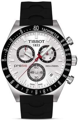 Tissot PRS516 Men's Silver Quartz Chronograph Sport Watch, 42mm