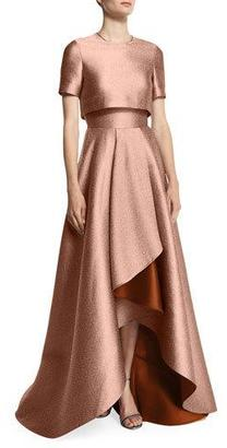Jason Wu Popover-Bodice Two-Tone Evening Gown, Fawn/Adobe $3,295 thestylecure.com