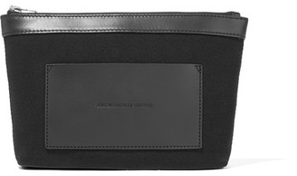 Alexander Wang - Leather-trimmed Canvas Pouch - Black $150 thestylecure.com