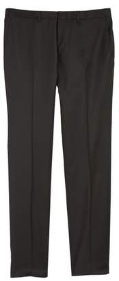 BOSS Wave CYL Flat Front Solid Wool Trousers