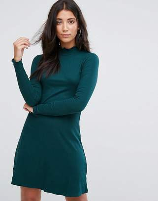 Brave Soul Julie High Neck Jersey Dress
