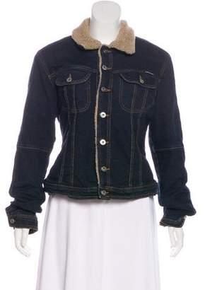 Dolce & Gabbana Denim Shearling Jacket