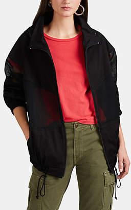 Yohji Yamamoto Regulation Women's Mesh-Inset Cotton Jacket - Black