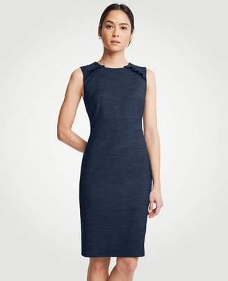 Ann Taylor Textured Ruffle Sheath Dress