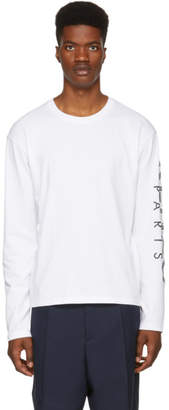 Kenzo White Logo Long Sleeve T-Shirt