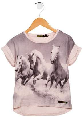 Finger In The Nose Girls' Horse Print T-Shirt