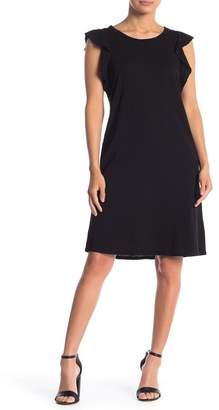 Velvet Flutter Sleeve Knit Dress