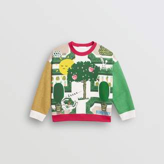 Burberry Hedge Maze Print Cotton Sweatshirt