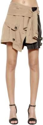 Alexander Wang Deconstructed Leather & Cupro Skirt