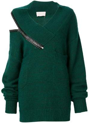 Christopher Kane crystal zip knit