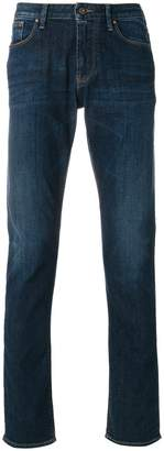 Armani Jeans stonewashed slim-fit jeans