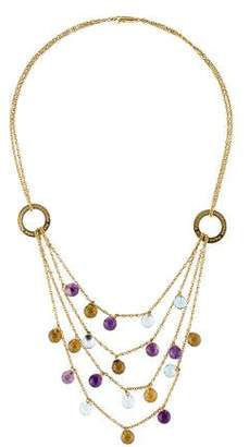 Pianegonda Topaz,Smoky Quartz & Amethyst Multistrand Necklace