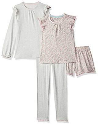 64e22d04d5567 Mothercare Girl s Pink Floral Shortie and Grey Spot Pyjamas - 2 Pack Pyjama  Sets