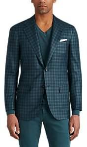 Kiton Men's KB Cashmere-Blend Two-Button Sportcoat - Olive