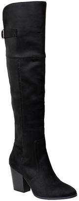 Easy Street Shoes Womens Maxwell Over the Knee Boots Block Heel Buckle