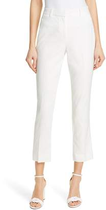 Rebecca Taylor Tailored by Linen Blend Ankle Trousers