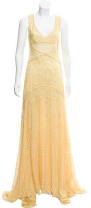 Missoni Sleeveless Maxi Dress Yellow Sleeveless Maxi Dress