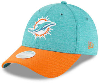 New Era Women's Miami Dolphins On Field Sideline Home 9FORTY Strapback Cap
