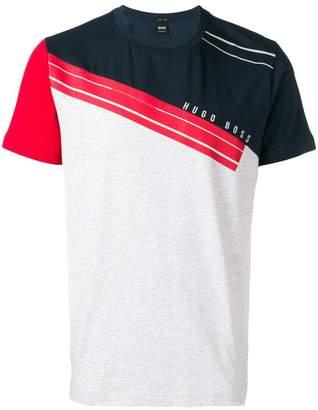 HUGO BOSS colour-blocked logo T-shirt