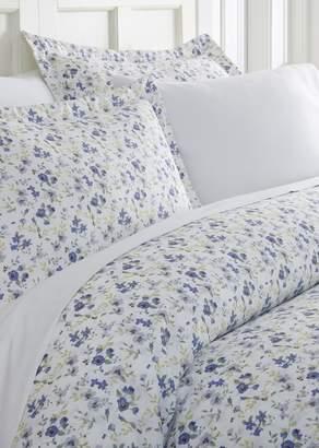 IENJOY HOME Home Spun Premium Ultra Soft 3-Piece Blossoms Print King Duvet Cover Set - Light Blue