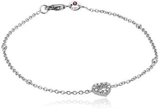Roberto Coin Tiny Treasures Diamond Open Heart Charm Bracelet