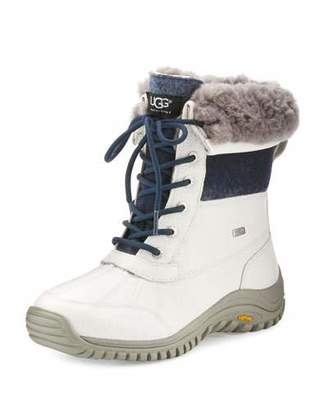 UGG Adirondack II Leather Hiker Boot, White $225 thestylecure.com