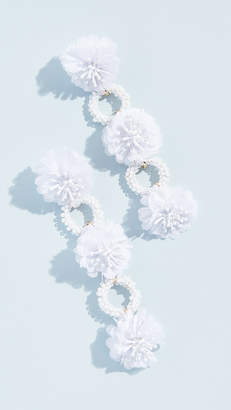 BaubleBar Three Flower Drop Beaded Earrings
