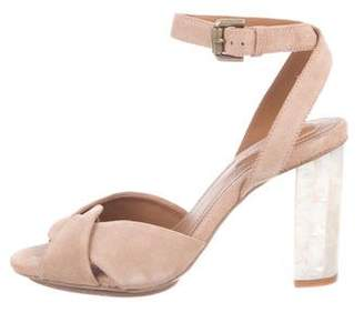 See by Chloe Embellished Suede Sandals