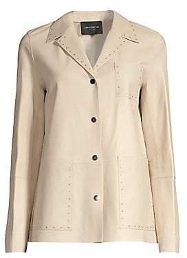 Lafayette 148 New York Women's Jolisa Glazed Leather Jacket
