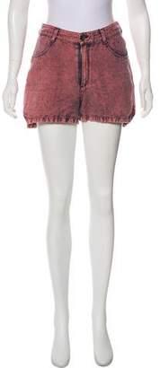 Theyskens' Theory Mini Linen-Blend Shorts