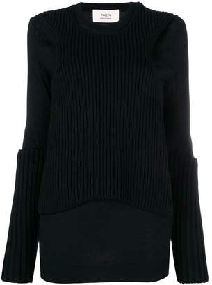 Ports 1961 long sleeve rib trim jumper