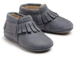 Old Soles Baby's Leather Fringe-Trim Booties