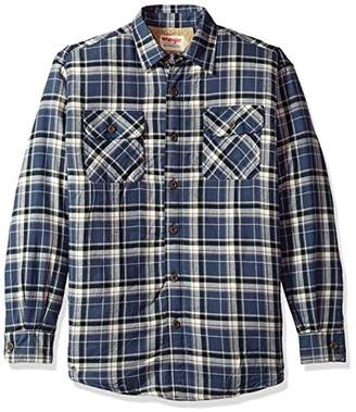 Wrangler Authentics Men's Long Sleeve Sherpa Lined Shirt Jacket