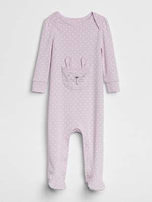 Gap First Favorite Bunny Footed One-Piece