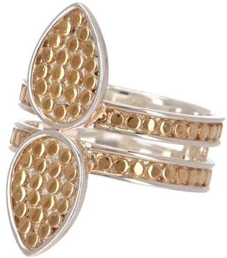 Anna Beck Two-Tone Signature Double Drop Ring