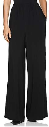 The Row Women's Pavel Cady Wide-Leg Trousers - Black
