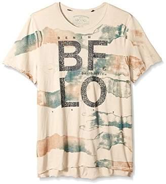 Buffalo David Bitton Men's Tiside Short Sleeve Crewneck Graphic Fashion T-Shirt